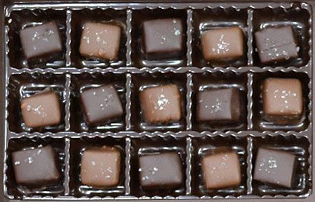 15 sea salt caramels