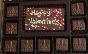 Happy Valentine's with 9 solid squares of assorted chocolate